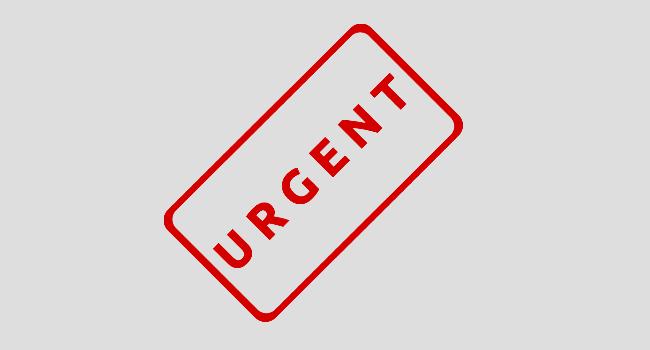 Annonce urgente