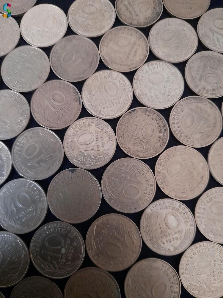 Pièces de monnaie 10 ct de Franc Marianne - 10 centimes