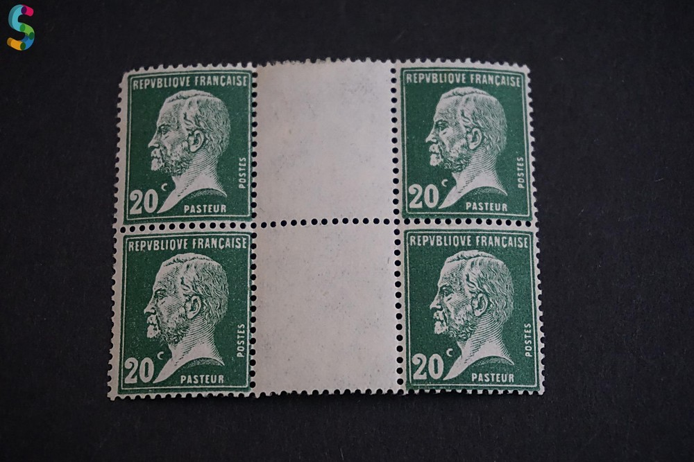 Timbre Pasteur 20C - République Française