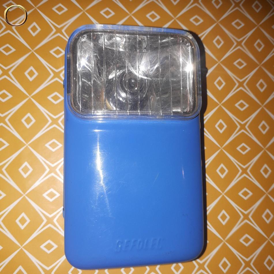 Lampe torche de poche tôle GEFOLEC Vintage bleu