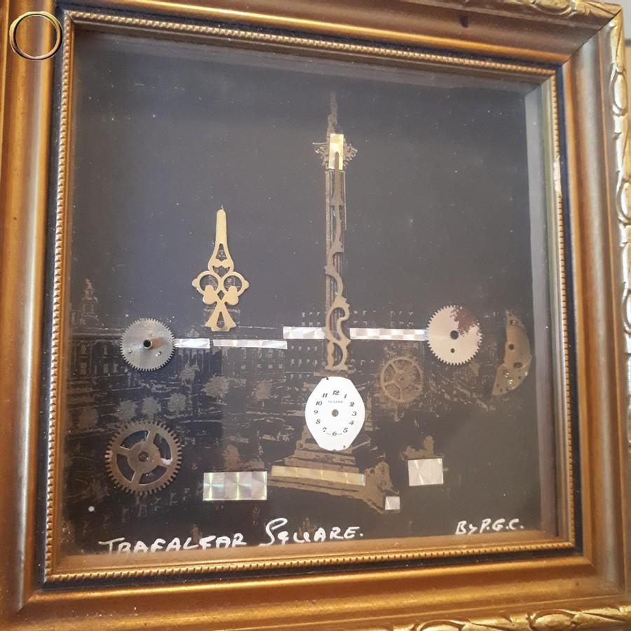 Tableau fait main et signé par P.G. COLLINS - TRAFALGAR SQUARE