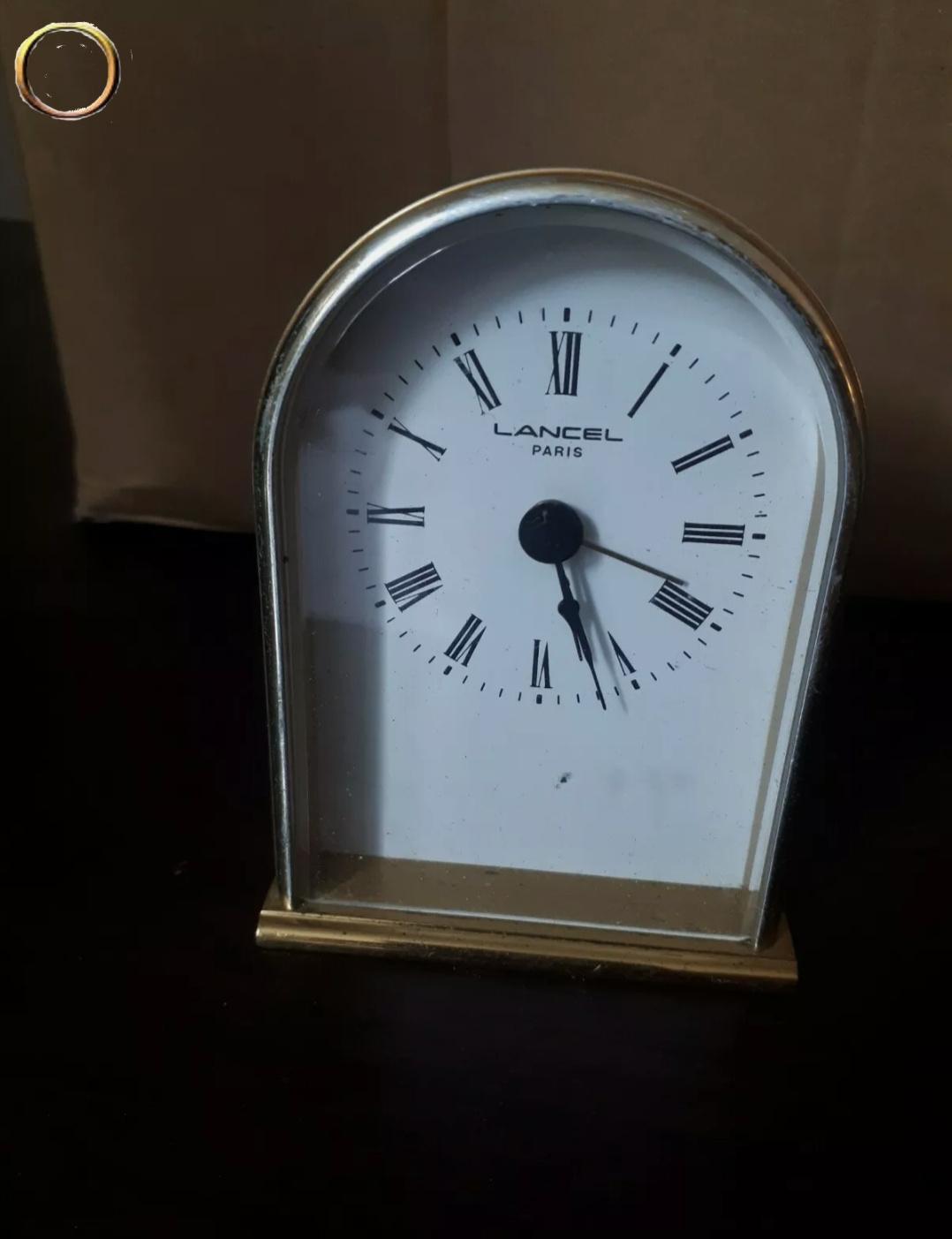 Pendulette réveil  LANCEL cadran blanc à chiffres romains