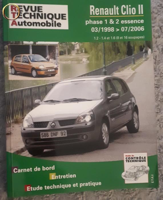 RTA - REVUE TECHNIQUE AUTOMOBILE - RENAULT CLIO II