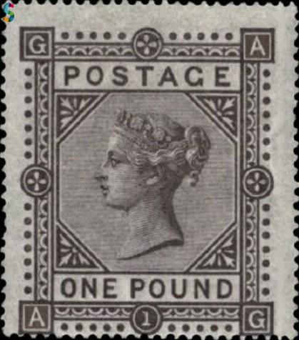 Timbre de la Reine Victoria de 1882 - brun lilas neuf