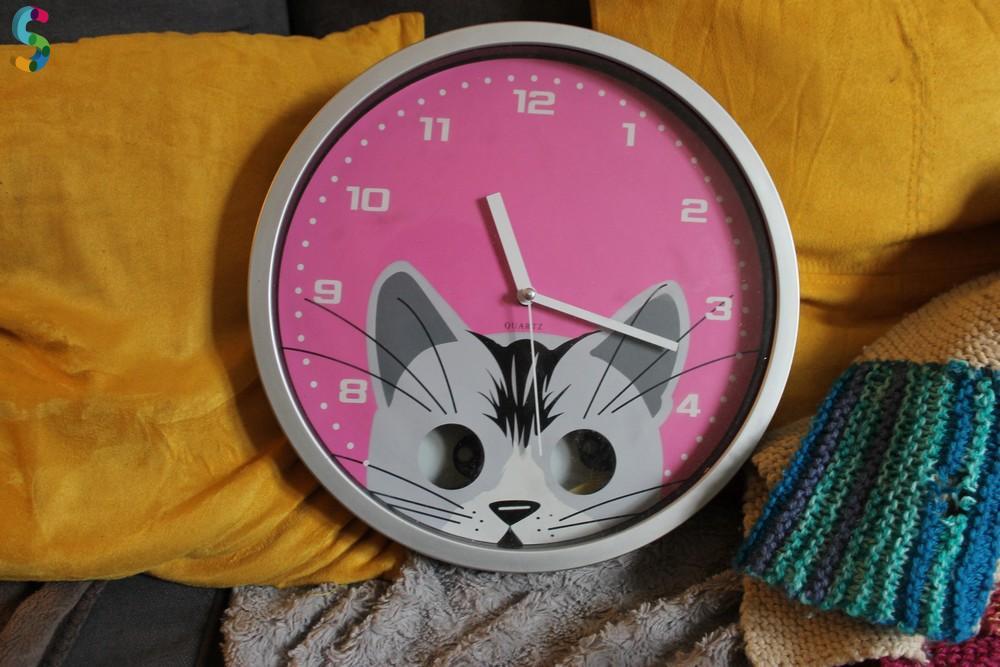 Horloge murale Chat - Cadeau enfant
