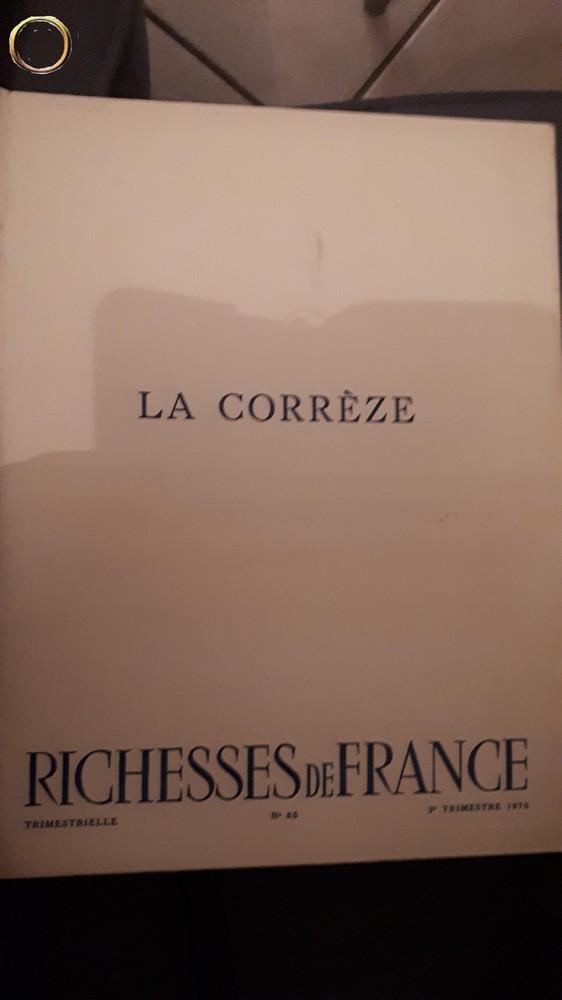 Rare livre : Richesses de FRANCE - La Corrèze