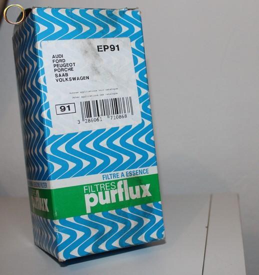 Filtre à essence EP91 - PURFLUX - AUDI - FORD - PEUGEOT - PORSCHE - SAAB - VOLKSWAGEN