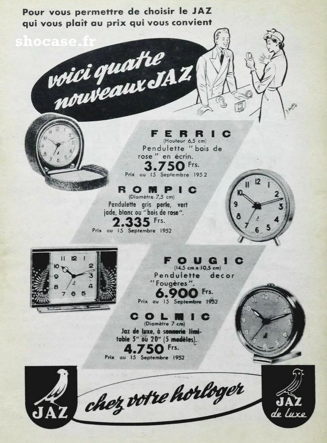 Publicité réveil FERMIC - ROMPIC - FOUGIC - COLMIC
