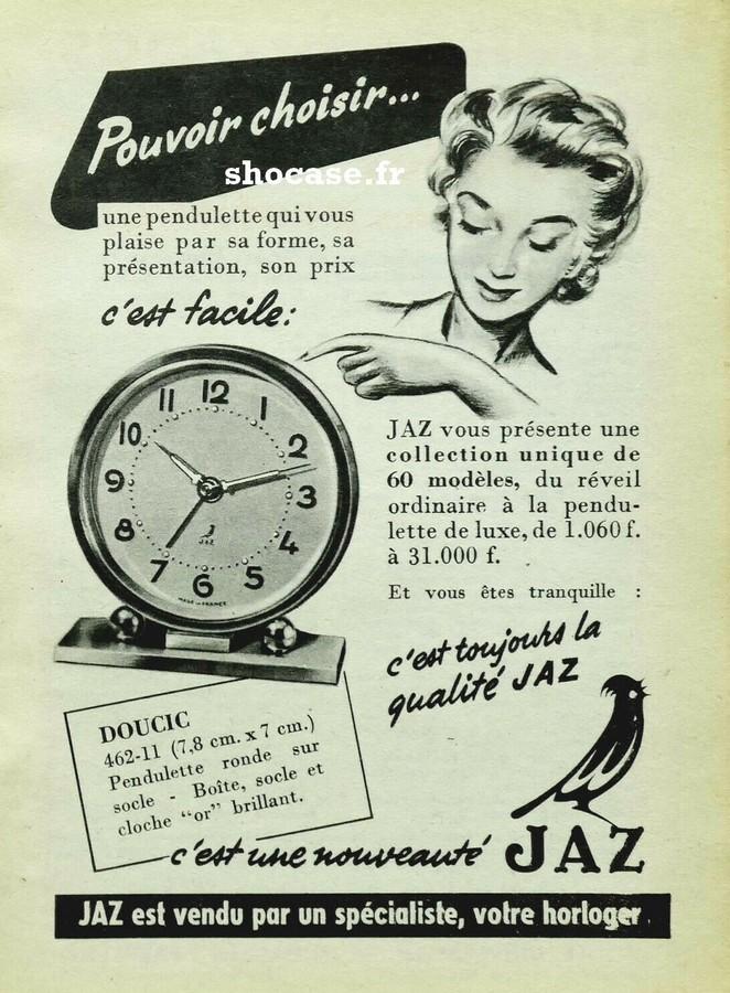 Publicité Réveil JAZ DOUCIC