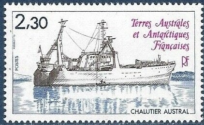 Timbre France 2,30F chalutier AUSTRAL