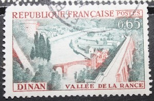 Timbre 0.65F vallée de la Rance - Dinan