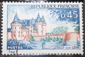 Timbre 0.45 F château SULLY SUR LOIRE