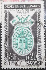 timbre 0,20F ORDRE DE LA LIBERATION