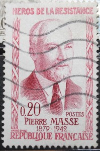 Timbre 0,20 F Pierre MASSE