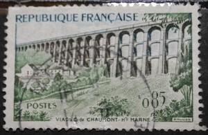 Timbre 0,85 F Le Viaduc Chaumont