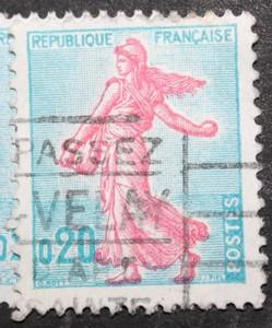 Timbre 0,20 F Marianne 1960