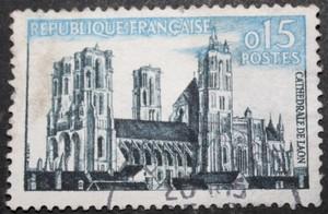 Timbre 0,15 F Cathédrale de Laon