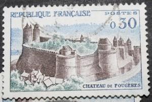 Timbre 0,30 F Château de FOUGERES
