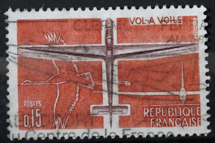 Timbre 0,15 F Vol à voile Année 1962