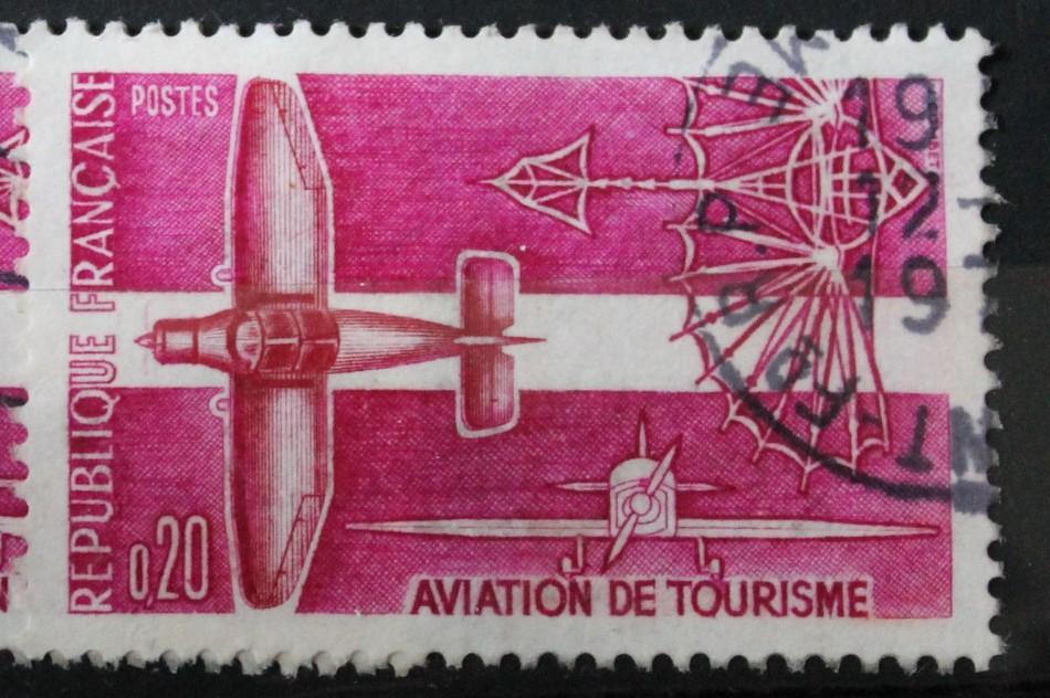 Timbre 0,20 F Aviation de tourisme Année 1962