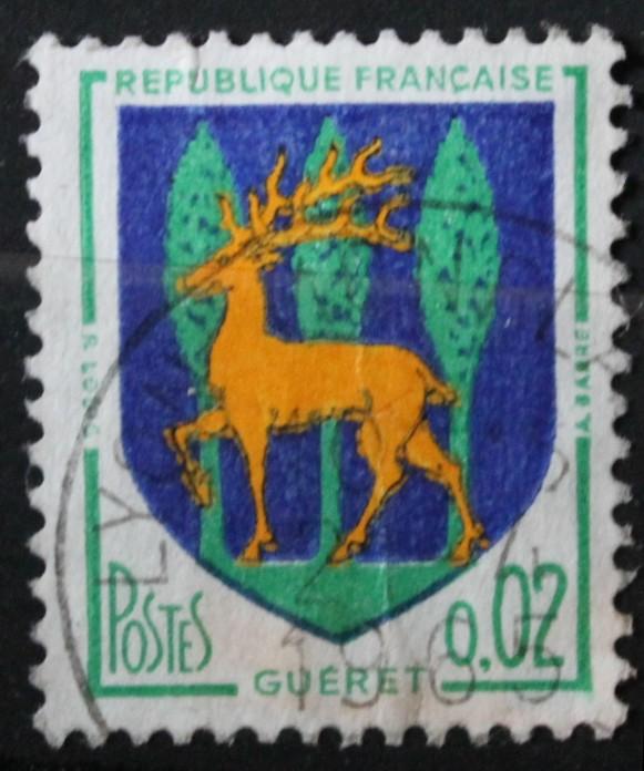 Timbre 0,02 F GUERET Année 1962