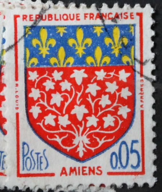 Timbre 0,05 F Amiens Année 1962