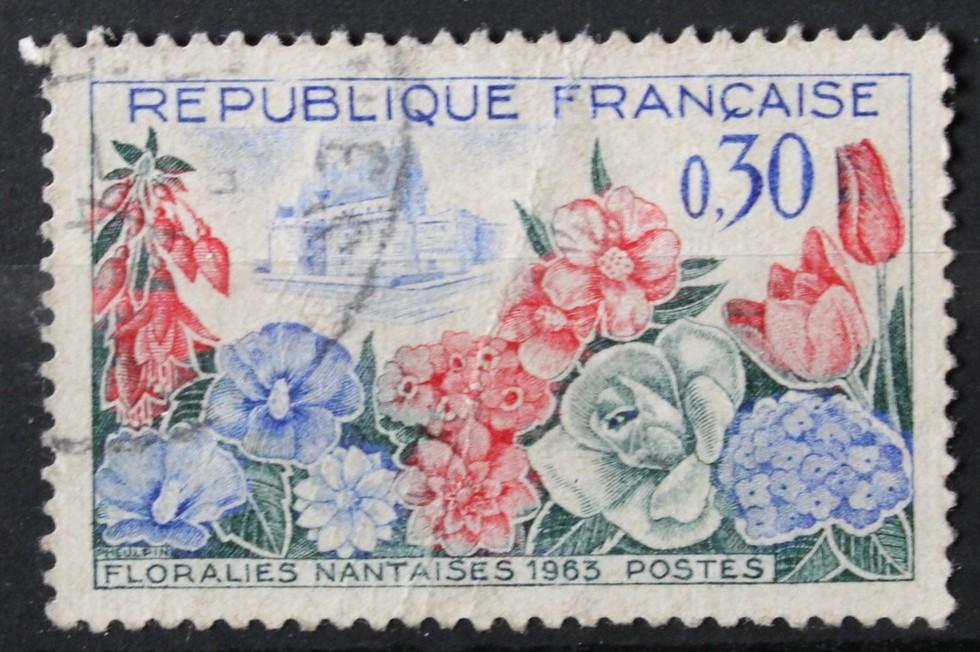 Timbre 0,30 F Floralies Nantaises