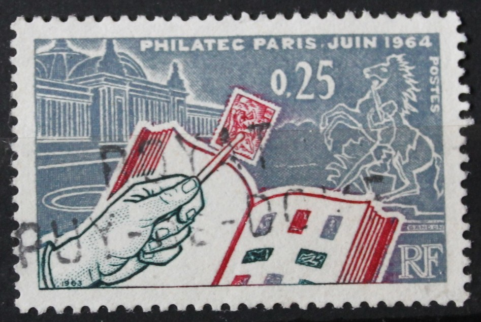 Timbre 0,25F 25c PHILATEC PARIS JUIN 1964
