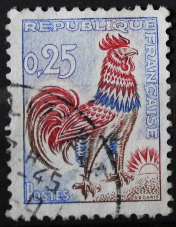 Timbre Coq DECARIS 1962