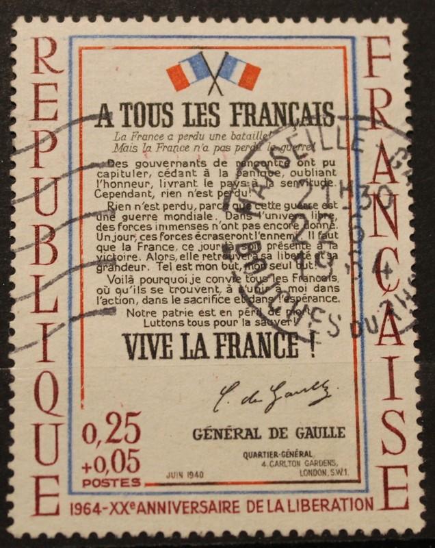 Timbre A TOUS LES FRANCAIS 0,25 + 0,05