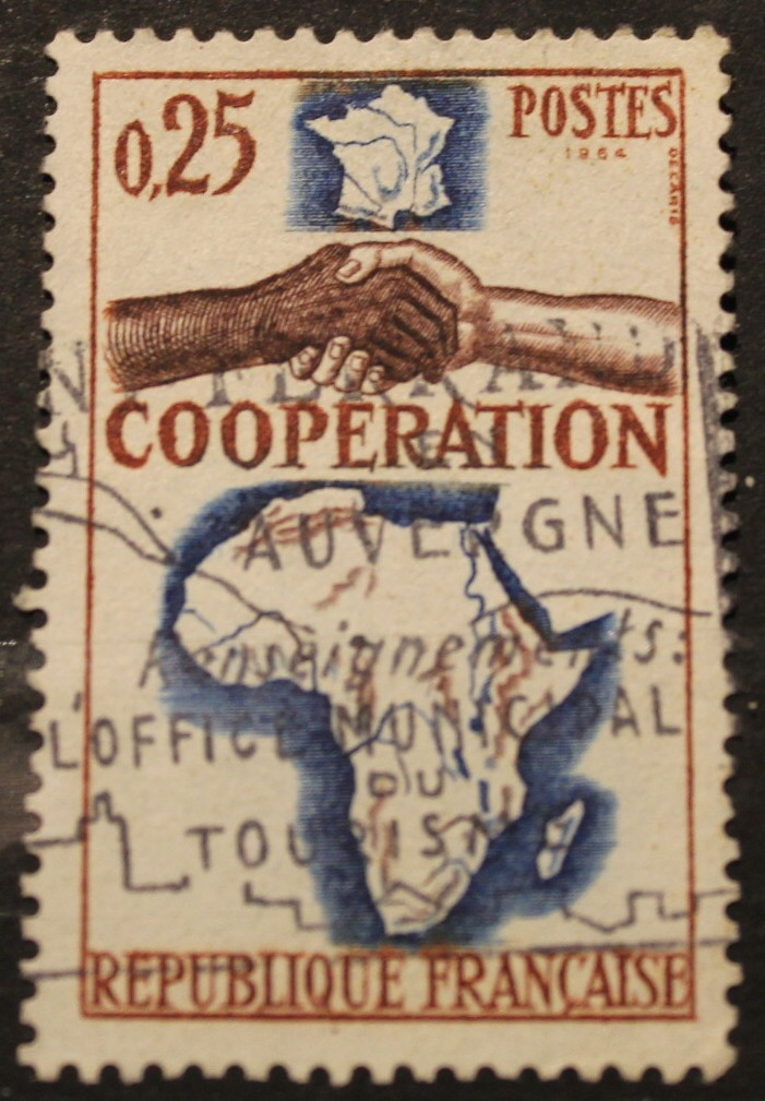 Timbre 0,25 COOPERATION FRANCE AFRIQUE