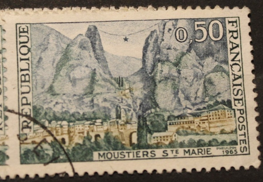 Timbre 0,50 MOUSTIERS STE MARIE
