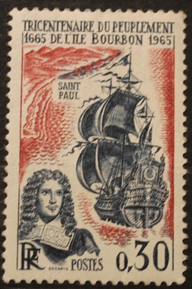 Timbre 0,30 Tricentenaire de l'île de BOURBON