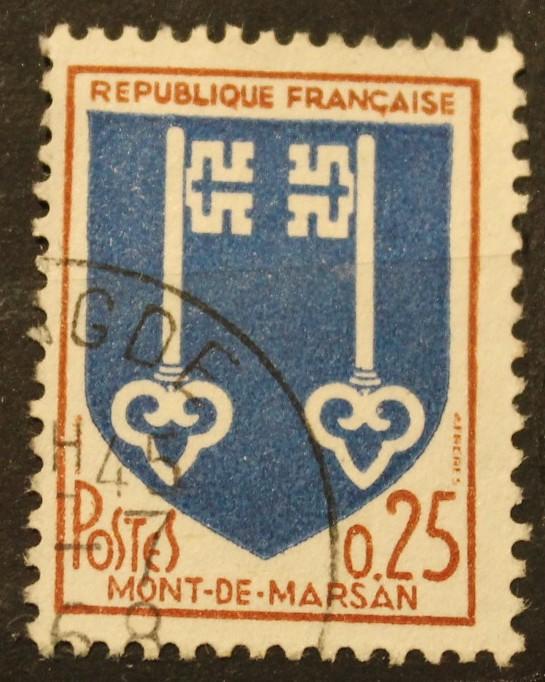 Timbre 0,25 F Mont-de-Marsan