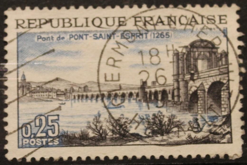 Timbre 0,25 Pont de PONT SAINT ESPRIT